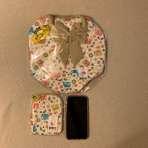 Handbags - BRAND NEW Naraya Bowler bag and cosmetic case